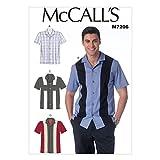 McCall's Patterns M7206 Men's Shirts Sewing