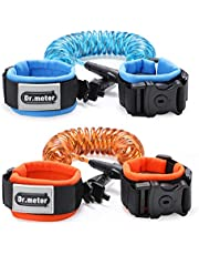 Dr.Meter Upgrade Anti Lost Wristband with Lock Toddler Child Safety Wrist Leash, Anti Lost Rope Walking Harness for Kids