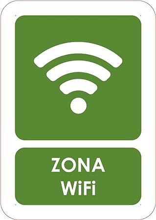 Oedim Señaletica Para Zona Wifi móvil Tamaño A5 (21x14,8cm) | Señaletica en material aluminio 3 mm resistente: Amazon.es: Hogar