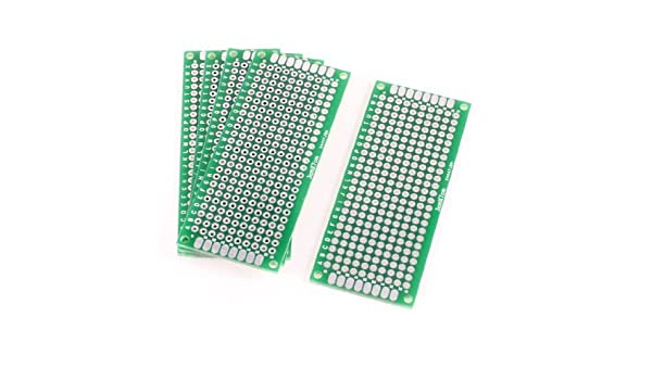 5 piezas DE 3 cm x 7 cm de la placa de circuito Solderable prototipo Universal PCB: Amazon.com: Industrial & Scientific