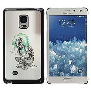 KLONGSHOP // Cubierta de piel con cierre a presión Shell trasero duro de goma Protección Caso - Goth Emo Zombie - Samsung Galaxy Mega 5.8 //