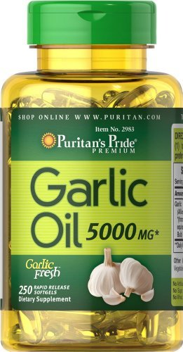 (Puritans Pride Garlic Oil, 5000 Mg, 250 Count)