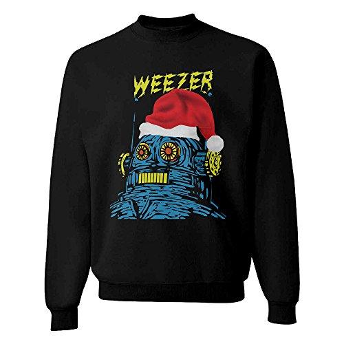 Dabbing Santa Ugly Christmas Sweatshirt Men's Black Sweatshirt