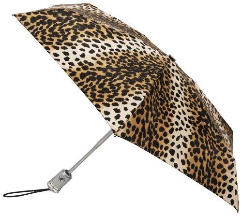 42 Inch Mini Folding Umbrella - Totes Auto Open Auto Close Umbrella,Leopard,One Size