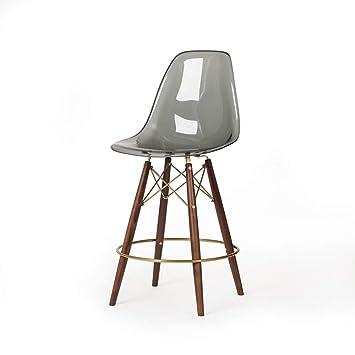 Remarkable Amazon Com Molded Acrylic Mid Century Modern Counter Stool Inzonedesignstudio Interior Chair Design Inzonedesignstudiocom