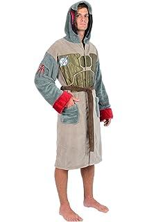 Amazon.com  Star Wars Darth Vader Uniform Fleece Bathrobe Black ... fafc8da9c