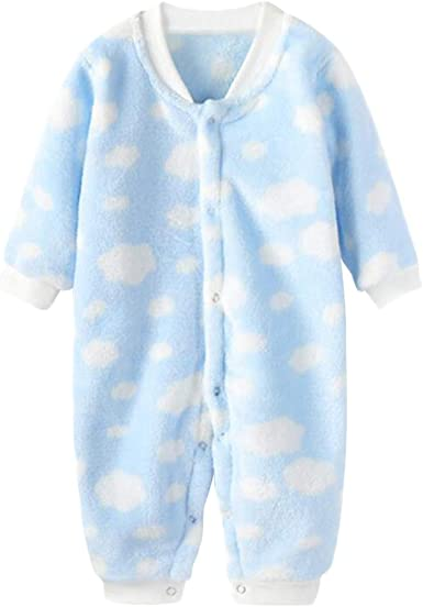 DEBAIJIA Bebé Mameluco 0-2T Recién Nacido Peleles Infantil Monos Niños Pijama Niña Ropa de Dormir Niño Camisones Unisexo Franela Cálido