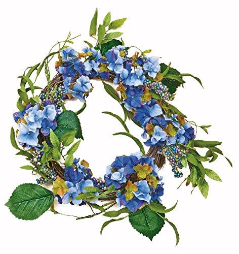 Worth Imports Hydrangea Wreath on Natural Twig Base, 18