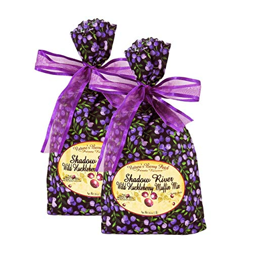Shadow River Wild Huckleberry Gourmet Muffin Mix 16 oz - Pack of 2