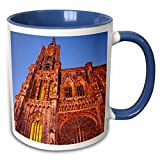 3dRose Danita Delimont - Cathedrals - Strasbourg Cathedral, Alsace Bas-Rhin France - EU09 BJN0564 - Brian Jannsen - 11oz Two-Tone Blue Mug (mug_136285_6)