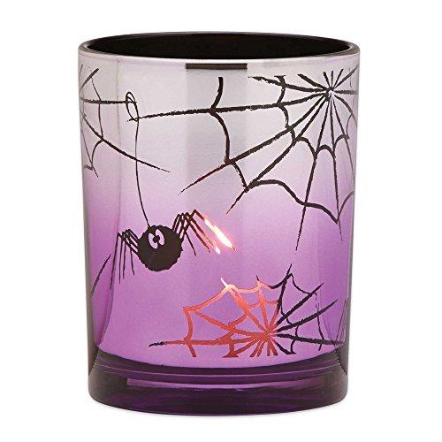 LENOX HALLOWEEN SPIDER GLASS (Glass Halloween Votives)