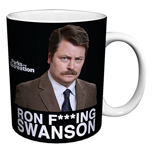 Parks and Recreation Ron Swanson Workplace Comedy TV Television Show Ceramic Gift Coffee (Tea, Cocoa) 11 Oz. Mug (Mugs Park Coffee)