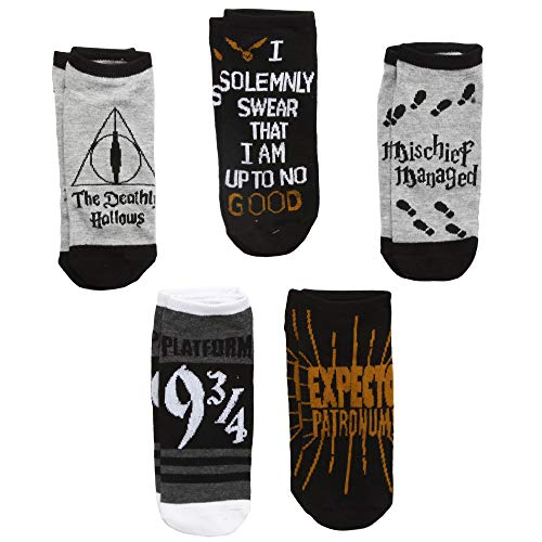 Harry Potter Deathly Hallows 5 Pack Ankle Socks -