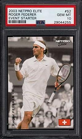 d2304f99cf84e Amazon.com: 2003 Netpro Elite Event Starter Rookie #S2 Roger Federer ...