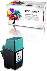 Printronic Remanufactured Ink Cartridge Replacement for HP 20 C6614D (1 Black)