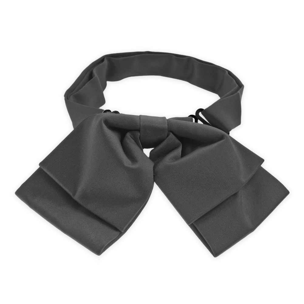 TieMart Deep Gray Floppy Bow Tie