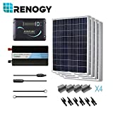 RENOGY 400 Watts 12 Volts Polycrystalline Solar Battery Reday Kit with PWM LCD Display Charge Controller