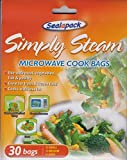 30X Microwave cook simply steam bags vegetables, meat, fish, poultry by Sealapack
