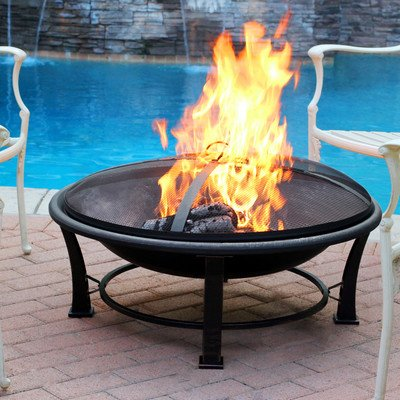 Jeco FP005 Golden Steel, Multicolored - Made of sturdy Steel construction Sturdy four leg support for fire bowl to provide stability. Country of Origin is China - patio, outdoor-decor, fire-pits-outdoor-fireplaces - 51o4uN3jxWL. SS400  -