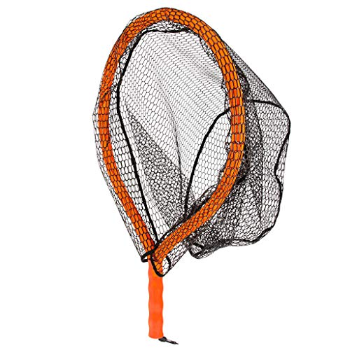 MChoice❤️Fishing Net Fish Landing Net Durable Rubber Material Mesh Safe Fish Catching Black