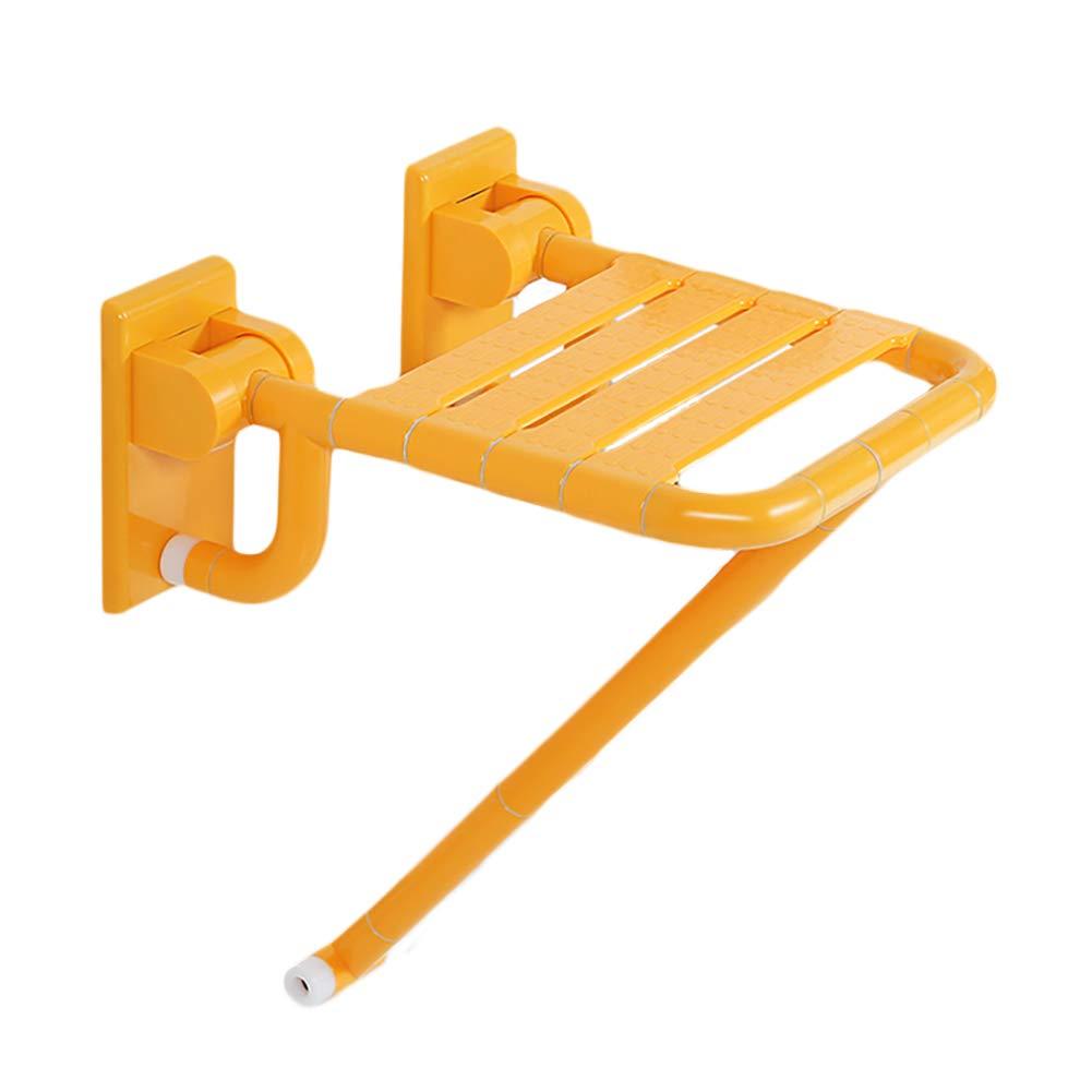 売上実績NO.1 LFF- 折りたたみ式のシャワー座席椅子、サポート付きの脚バスルーム折りたたみ式アンチスリップベンチバスタブスツールシート (色 (色 : LFF- イエロー いえろ゜) イエロー イエロー いえろ゜ B07GDLN289, マツオムラ:180f8dcc --- ns2.nootropicsland.com