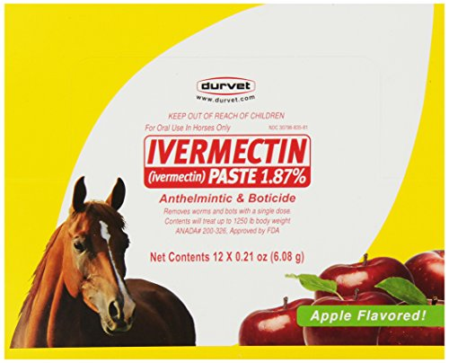 - Durvet 12-Pack Ivermectin Dewormer Paste for Horses