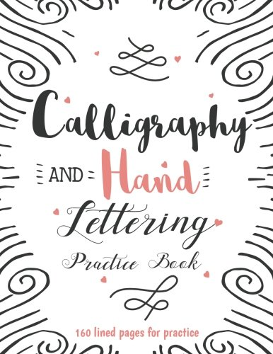 Calligraphy Hand Lettering Practice Book Large Print