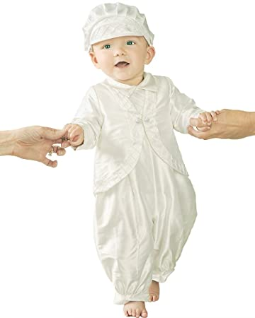 39ce3bcdf Image Unavailable. Image not available for. Color: Samuel Silk Christening  Baptism Outfit for Boys, Made in USA
