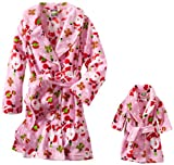 Dollie & Me Little Girls' Printed Santa Clause Robe