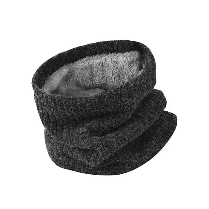 51o4vQmL%2BuL Thickkened Knitting- el rendimiento ultra suave, cómodo y exquisito te sorprenderá. Y no producirá pilling ni se soltará después de su uso. Keep You Warm- El fino forro de felpa es útil para mantener el calor en el cuello, la cara, las orejas y la cabeza en días fríos. fibras acrílicas y felpa