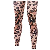 Xinzechen Compression Bicycle Leg Warmers Leopard