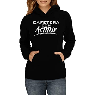 Amazon.com: Idakoos - Cafetera Con Actitud - Women Hoodie ...