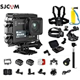 SJCAM SJ6 Kit Including Extra Battery, 6-in-1 Accessories SJ6 LEGEND Dual Screen 2″ LCD Touch Screen 2880×2160 Novatek NT96660 Panasonic MN34120PA CMOS 4K Ultra HD Sport DV Action Camera