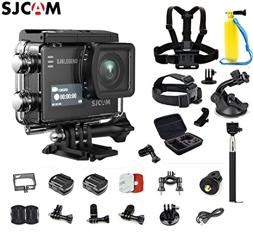 SJCAM SJ6 Kit {Including Extra Battery, 6-in-1 Accessories} SJ6 LEGEND Dual Screen 2″ LCD Touch Screen 2880×2160 Novatek NT96660 Panasonic MN34120PA CMOS 4K Ultra HD Sport DV Action Camera