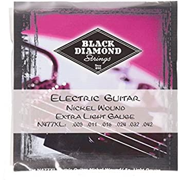 Black Diamond N477XL Nickel Wound Electric Guitar Strings, Extra Light