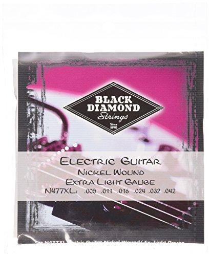 Black Diamond N477XL Nickel Wound Electric Guitar Strings, Extra Light
