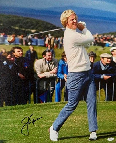 Signed Nicklaus Photo - Legend 16x20 Canvas Mounted Loa Z50241 - JSA Certified - Autographed Golf Photos