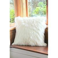 the purple tree Faux Fur Cushion (White, STST00024) - Set of 1 Piece
