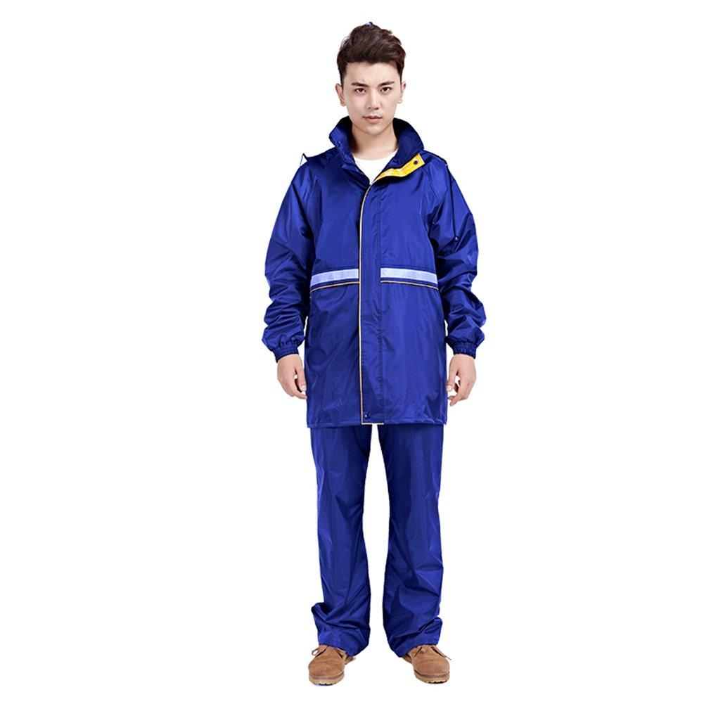 Royal bluee ZEMIN Rain Jacket Coat Waterproof Raincoat Poncho Jacket Rain Pants Breathable Cycling The Man Woman Adult, 5 colors 7 Size Waterproof (color   Maroon, Size   M)