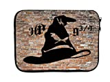 Neoprene Zippered Laptop Sleeve Bag 11x14 inch for MacBook or Other Laptops (Wizard Hat 9 3/4)