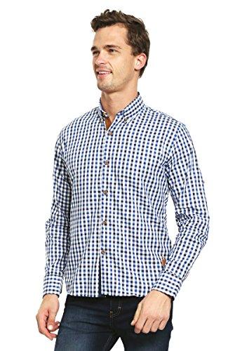 Marc Joseph Camisa Azul Marino a Cuadros Camisa para Hombre Azul Talla S