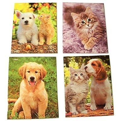 Puppy and Kitten Folder 4 Pack ~ Kitten Chatter, Good Listener, Lend an Ear, I'm Game!: Toys & Games