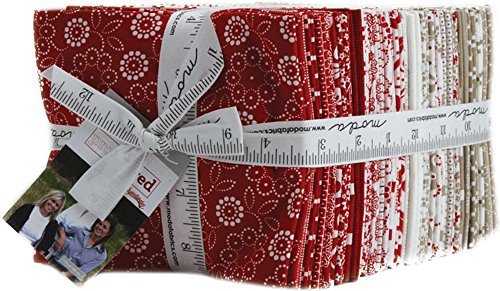 Sweetwater Project Red 38 Fat Quarters Moda Fabrics 5680AB by Moda Fabrics