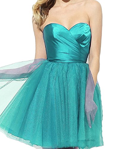 BD369 Short Hunter Dresses Gown Tulle Homecoming Party Green BessDress Ball Sweetheart 6zPwqc71