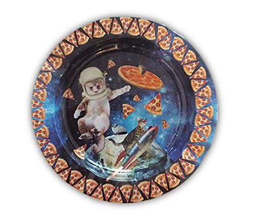 Cats and Pizza in Space Design -Tin Ashtray