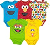 Sesame Street Baby Boy Girl 5 Pack Bodysuits