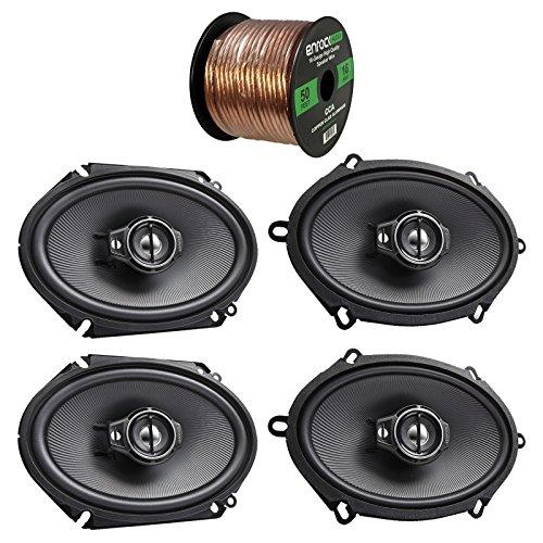 Custom Fit Coaxial 2 Way - 2X Kenwood KFC-C5795PS 5x7 360W 3-Way Custom Fit Coaxial Speakers + 2X KFC-1665S 6 1/2