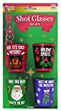 Forum Novelties G-Rated Christmas Shot Glasses, Plastic, Multicolor