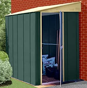 Canberra High Quality Lean To Steel Metal Garden Shed with Roof Size of 6ft x 4ft (123cm x 184cm)