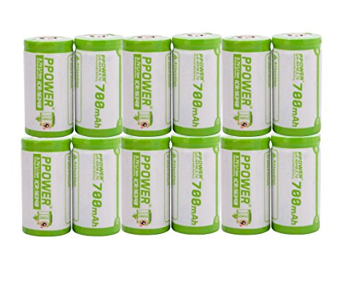 PPOWER Pbe 12 Packs of 700mah 3.7v Cr123a 16340 Li-ion Rechargeable Battery (12X)